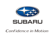 Subaru logo with text: Subaru confiance et évolution